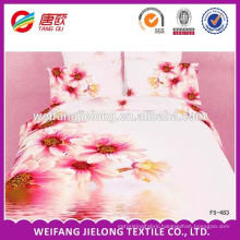 2014 India hot sale 100% polyester 3D printed bed sheet fabric