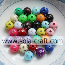 New Fashion Design for for Resin Rhinestone Beads,Acrylic Rhinestone Beads,Berry Beads Wholesaler & Supplier 5MM Fantastic Colorful Acrylic Disco Dot Beads For Earring export to Eritrea Supplier