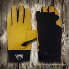 Перчатки из натуральной кожи Перчатка-Перчатка-Механическая перчатка-перчатки-рабочие кожаные перчатки