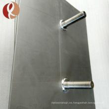 Precio de la placa de ánodo del electrodo de titanio de grado 2 recubierto de platino