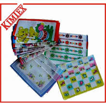Wholesales Cheap Cotton Sauare Printed Gift Handkerchief