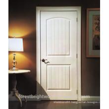 Interior white primed 2 panel HDF moulded door