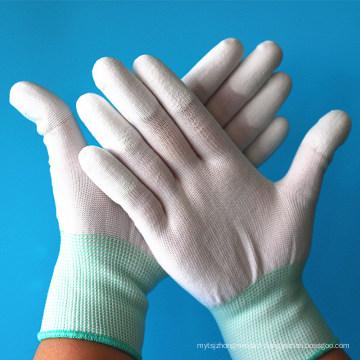 La précision d'inspection travaillent le dessus de fibre de carbone ESD montent les doigts les gants sûrs d'unité centrale de sécurité