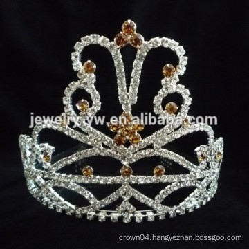 fancy hair accessories silver plated crystal headbands for women