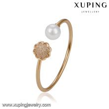 51714- Pulseira de pérola elegante jóias Xuping para mulheres com ouro 18k chapeado