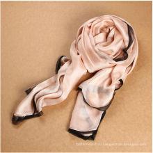 Женская шелковая красивая кружевная шаль