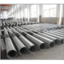 galvanized steel octagonal electric pole for distribution line                                                                         Quality Choice