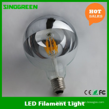 LED Medio Cromo Plata Espejo Cabeza Dimmable 8W G125 Filamento LED