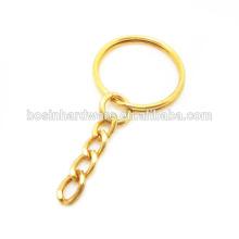 Модное золото металла высокого качества покрыло разделенное кольцо с цепью обуздания