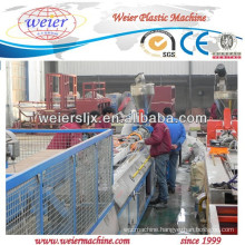 conical double screw extruder line for PVC WPC profiles