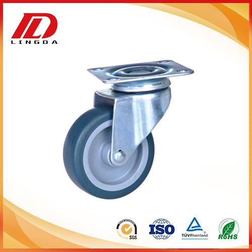 2 inch plate caster TPE wheels