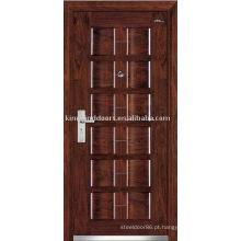 Porta de madeira aço exterior (JKD-107) porta de segurança de aço forte para Design de porta blindada