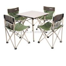 Diseños plegables de la mesa de comedor que acampan la silla plegable de aluminio de la tabla
