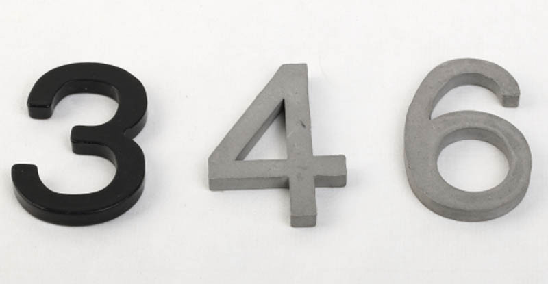 Custom Steel Aluminum Number