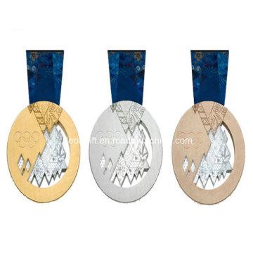Or/argent/cuivre prix promotionnel médaille en gros pas cher