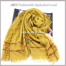 Bufanda al por mayor de la manera del hijab de los mantones del poliester y del algodón
