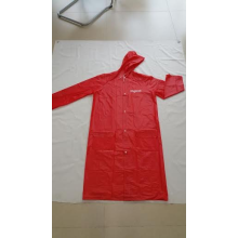 PVC/POLYESTER RAIN JACKET WITH ZIPPER BUTTON