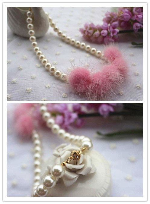 Pom Pom Pearl Necklace