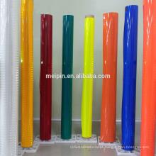 Vida útil de 10 anos Folha reflexiva acrílica Verde amarelo fluorescente / vermelho / azul / verde / branco / laranja