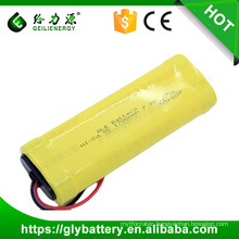 7.2V 1700mAh NICD Rechargeable SC Battery For LED Light