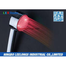 Bathroom Plastic High Efficiency LED Rainfall Shower Head H
