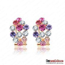18k Gold Plating Mulheres Acessórios Jóias Brinco de cristal (ER0014-C)