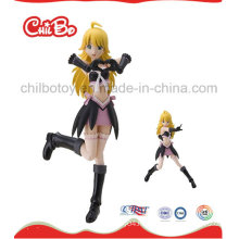 Long Hair Lovely Plastic Figure Toy (CB-PF023-S)