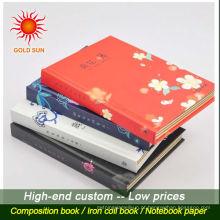 Caderno de pu de capa dura de venda quente de artigos de papelaria profissional com elástico