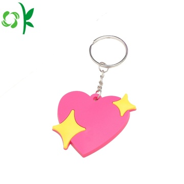 Create Custom Heart-Shaped Silicone Key Chains with Star