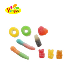 Halal candy various shape colorful rich fruity gummy soft candy