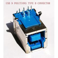 Conector fêmea de 9 Pin USB3.0 para o equipamento da impressora