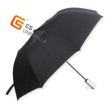 """23 """"* 8 k Markt 2 Falten-Regenschirm mit Splitter Griff (YS-2F3002A)"""