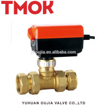 Natural color Double live brass globe valve