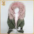 2017 Factory Wholesale Custom Real Coat Fur Hooded Parka