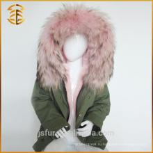 Фабрика Прямо Поставка Бренд Дети Куртки Blue Fur Parka