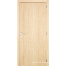 Contempory Simple Panel HDF Flush Door laminado con revestimiento de melamina
