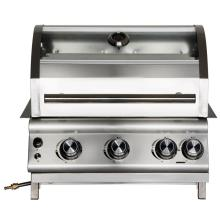 Three Stainless Steel Burner Build-in Gas Barbecue Grill