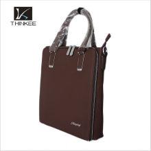 taian custom khaki genuine leather handbag for men