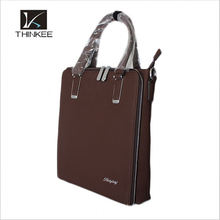 taian personalizado khaki bolsa de couro genuíno para homens