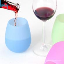 Taza plegable de silicona portátil de las tazas plegables de la categoría alimenticia