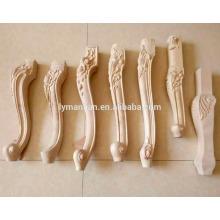 Holz Tischbein / Holzschnitzbeine / Holzfüße