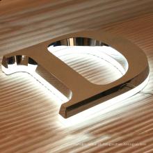 Carta de aço inoxidável do logotipo do metal do sinal do metal e iluminação do diodo emissor de luz