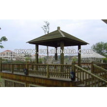 2014 landscaping outdoor rot-proof wpc pavilion
