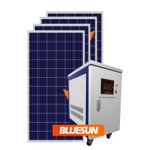 Sistema de energia solar Bluesun 5000w painéis de energia inversor de sistemas
