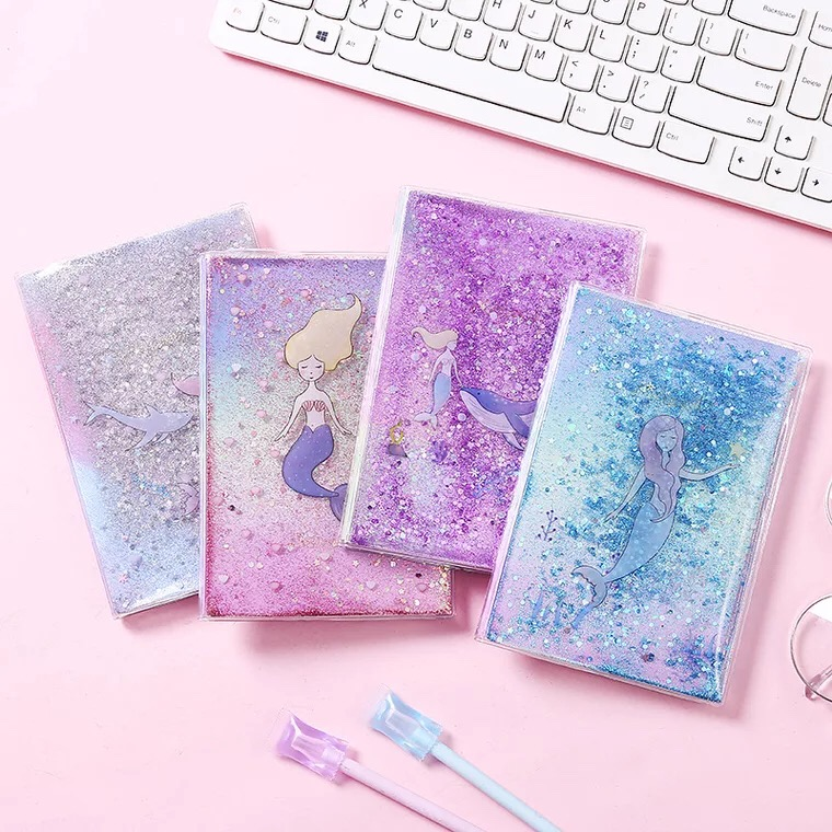Mermaid Liquid Glitter Notebook 5