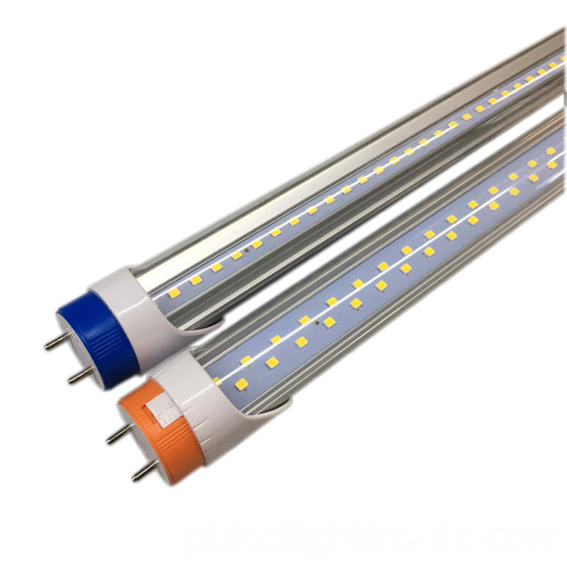 T8 18w 24w Led Tube Light Orange Blue Rotating End Cap Clear Cover Front View