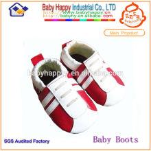 China Guangdong weichen Leder Neugeborenen Baby Lederschuhe