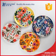 10inch керамическая плита для домашнего декора / симпатичная плита фарфора для украшения венчания