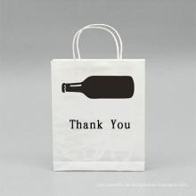 Umweltfreundliche Einkaufspapiertüte in Weiß