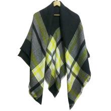 Nouvelle arrivée mélange couleur carré châle imité écharpe en cachemire hiver femmes écharpe